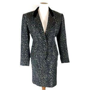 💐 Kenzo | Vintage Skirt Jacket Suit Wool Leopard